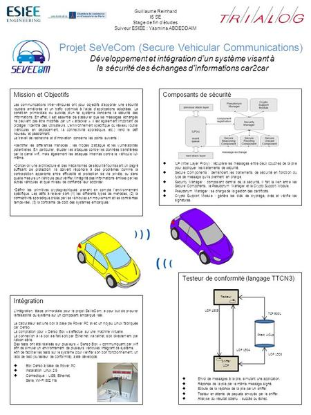 Projet SeVeCom (Secure Vehicular Communications)
