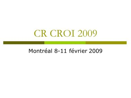 CR CROI 2009 Montréal 8-11 février 2009. 27 Predictors of Kidney Tubulopathy in HIV Patients Treated with Tenofovir: A Pharmacogenetic Study N= 289 patients.