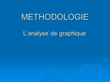 L'analyse de graphique
