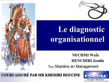 Le diagnostic organisationnel NECHMI Wafa HENCHIRI Jamila 1 ère Mastère en Management.