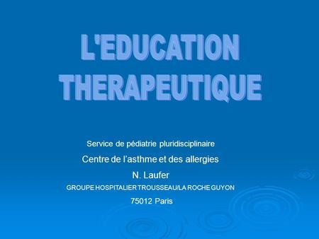 leducation therapeutique service