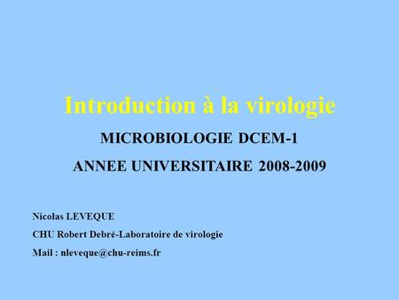 Introduction à la virologie