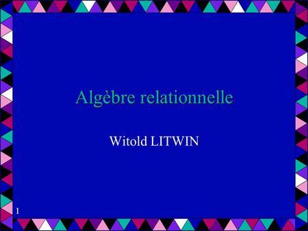 Algebre relationelle