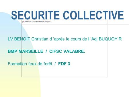 26/03/2017 SECURITE COLLECTIVE