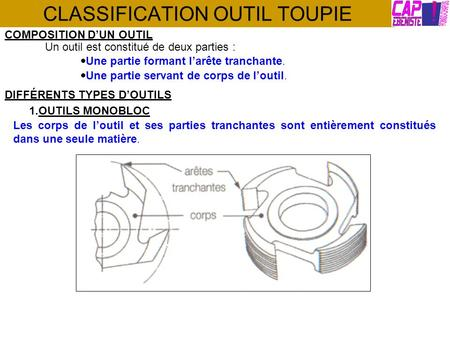 CLASSIFICATION OUTIL TOUPIE