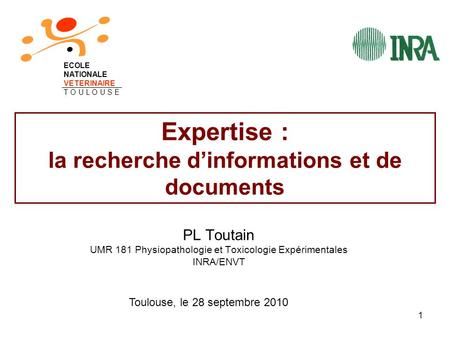 Expertise : la recherche d'informations et de documents