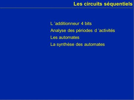 Les circuits de m moire ppt video online t l charger for Les circuit combinatoire