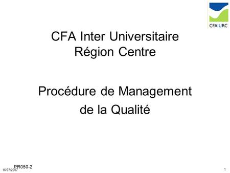 CFA Inter Universitaire Région Centre
