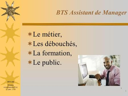 BTS Assistant de Manager