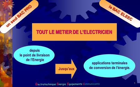 applications terminales de conversion de l'énergie.