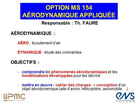 OPTION MS 154 AÉRODYNAMIQUE APPLIQUÉE