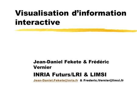 Visualisation d'information interactive