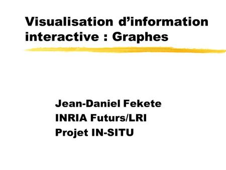 Visualisation d'information interactive : Graphes
