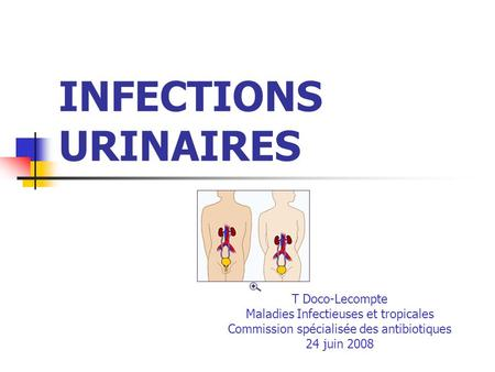 INFECTIONS URINAIRES T Doco-Lecompte