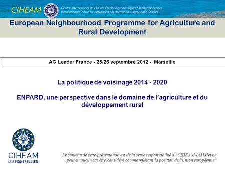 European Neighbourhood Programme for Agriculture and Rural Development