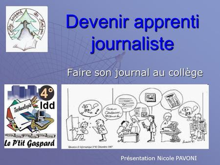 Devenir apprenti journaliste