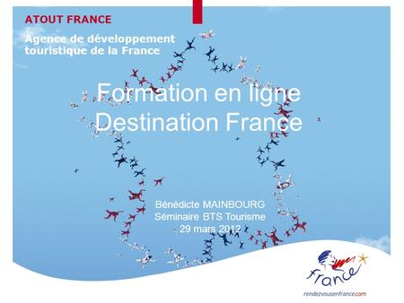 Formation en ligne Destination France