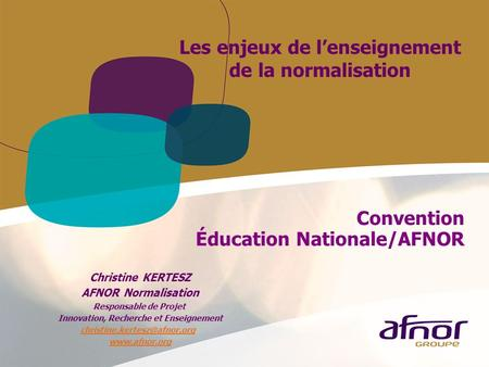 Convention Éducation Nationale/AFNOR