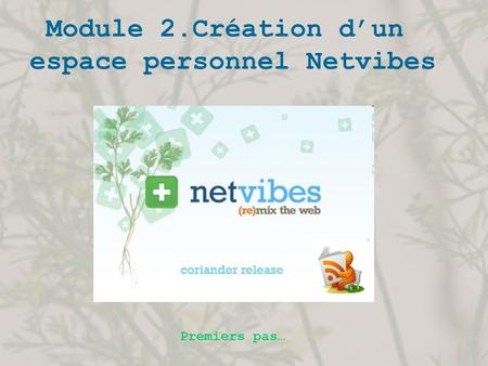 espace personnel Netvibes