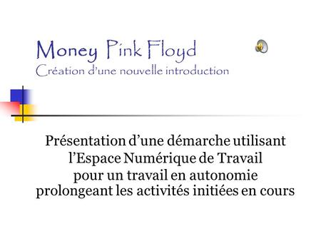 Money Pink Floyd Création d'une nouvelle introduction