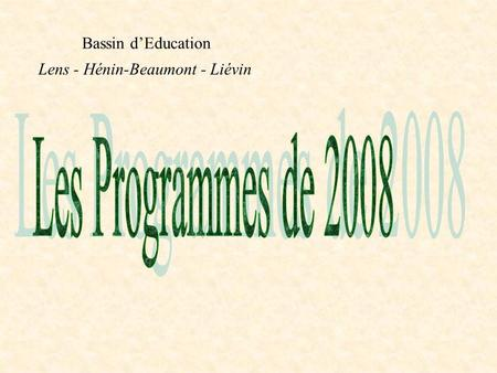 Bassin dEducation Lens - Hénin-Beaumont - Liévin.