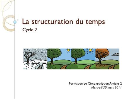 La structuration du temps