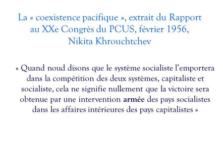 Coexistence Pacifique Dissertation