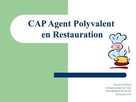 Agent polyvalent de restauration ppt t l charger for Agent en restauration collective