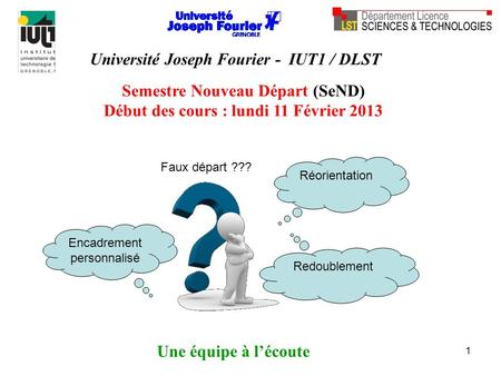 Université Joseph Fourier - IUT1 / DLST
