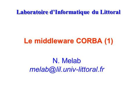 Laboratoire d'Informatique du Littoral