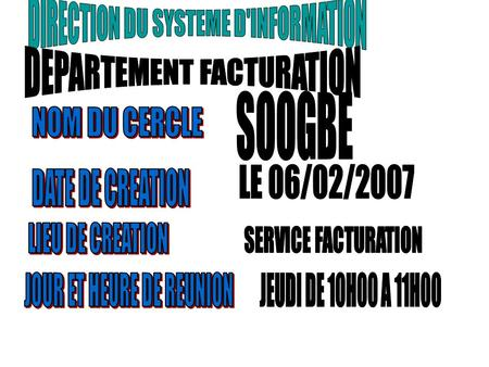 DEPARTEMENT FACTURATION