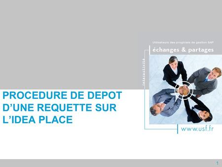 1 PROCEDURE DE DEPOT DUNE REQUETTE SUR LIDEA PLACE.