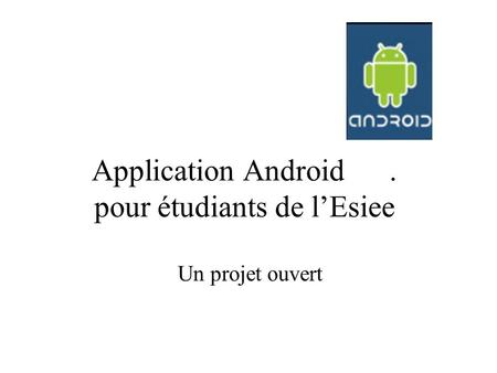 Application Android . pour étudiants de l'Esiee