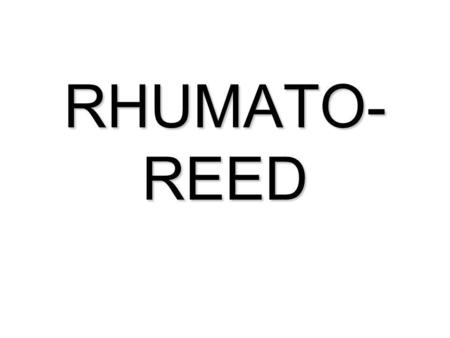 RHUMATO- REED. REEDUCATION SUR LEPAULE NON OPEREE.