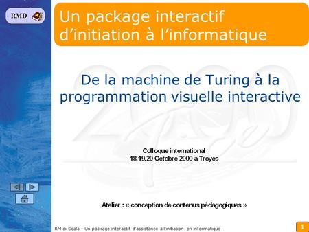 Un package interactif d'initiation à l'informatique