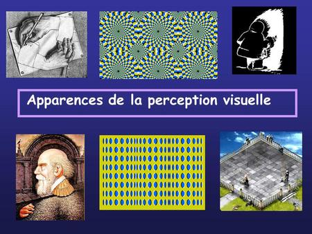 Apparences de la perception visuelle
