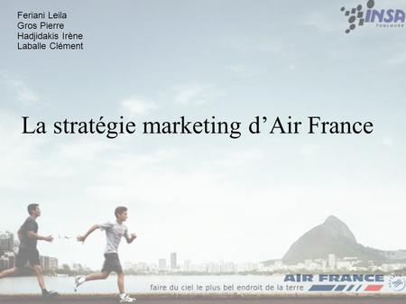 La stratégie marketing d'Air France