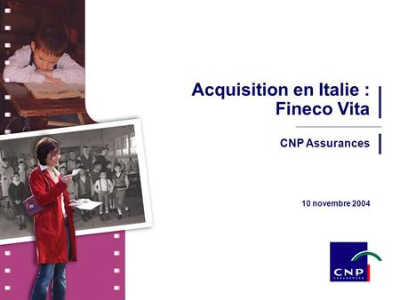 Acquisition en Italie : Fineco Vita