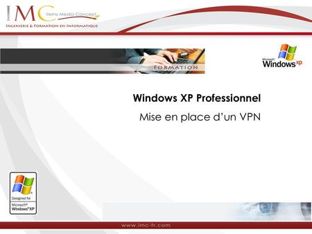 Windows XP Professionnel Mise en place dun VPN. Mise en place d'un VPN sous Windows XP Windows XP permet de gérer nativement des réseaux privés virtuels.