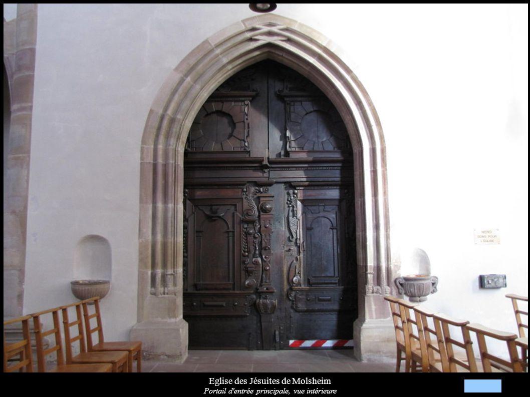 Eglise des Jésuites de Molsheim Détails des portes intérieures XVIIe