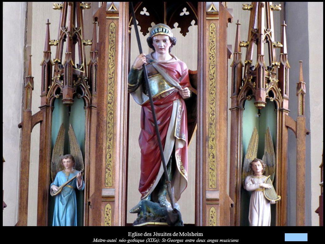 Eglise des Jésuites de Molsheim Croix d autel du maître-autel néo-gothique (XIXe)