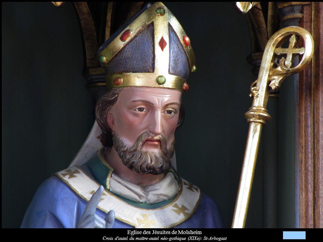 Eglise des Jésuites de Molsheim Statue Saint-Joseph à l Enfant (XVIIIe)