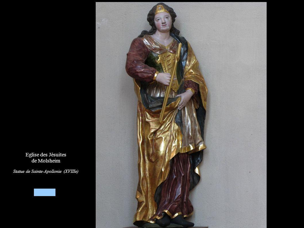Eglise des Jésuites de Molsheim Statue Sainte-Apollonie (XVIIIe)