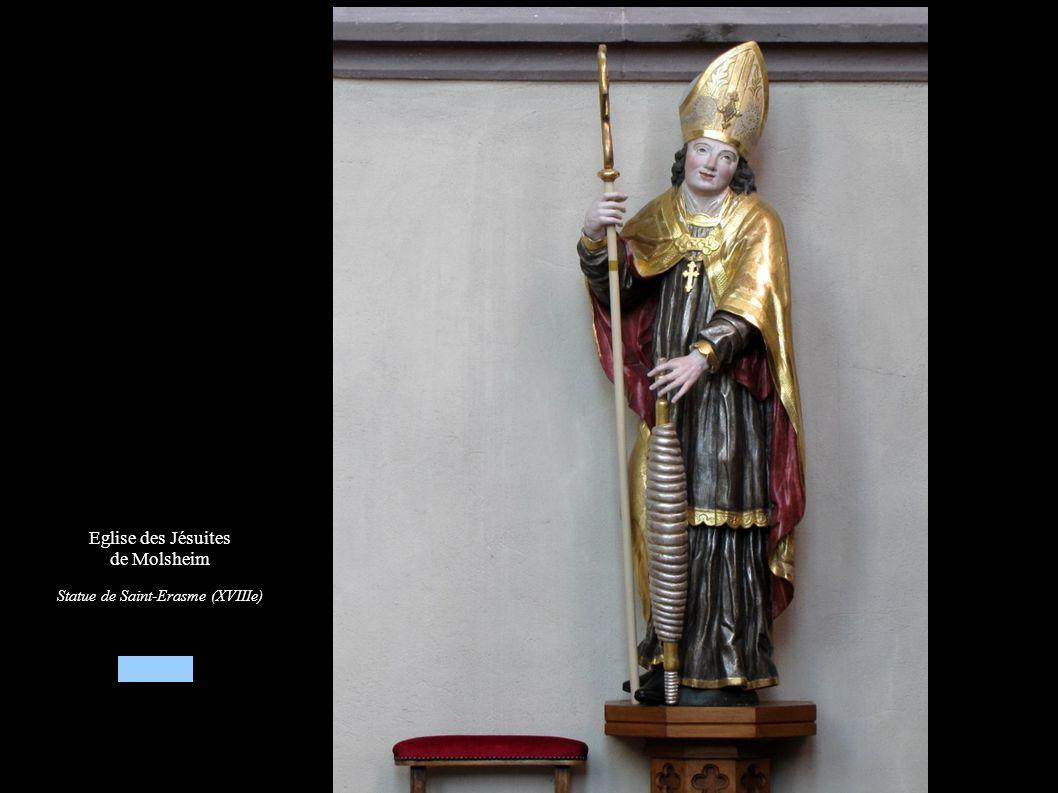 Eglise des Jésuites de Molsheim Statue Saint-Erasme (XVIIIe)