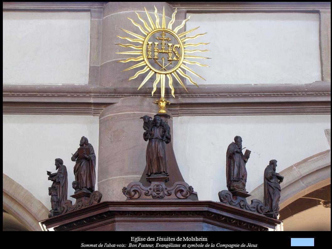 Eglise des Jésuites de Molsheim Autel et relief « Saint-Jean-Baptiste (XVIIIe)