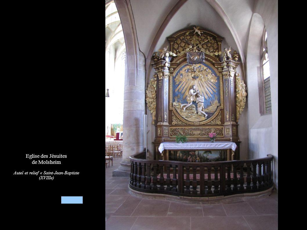 Eglise des Jésuites de Molsheim Autel secondaire Saint-Jean-Baptiste (XVIIIe), Baptême du Christ
