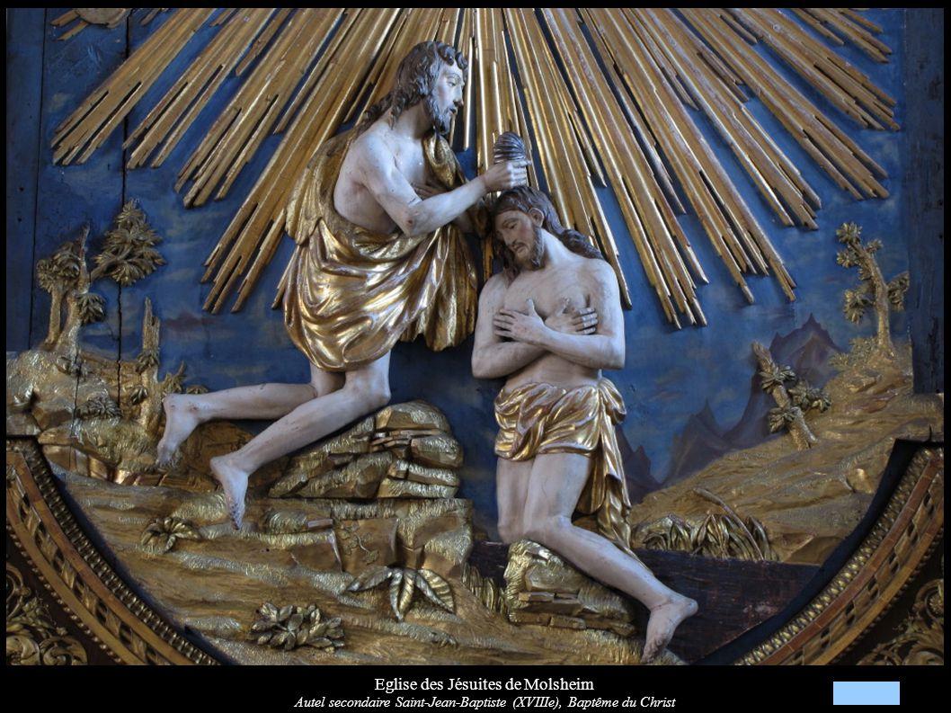 Eglise des Jésuites de Molsheim Autel secondaire Saint-Jean-Baptiste (XVIIIe), Reliefs « Dieu le Père »