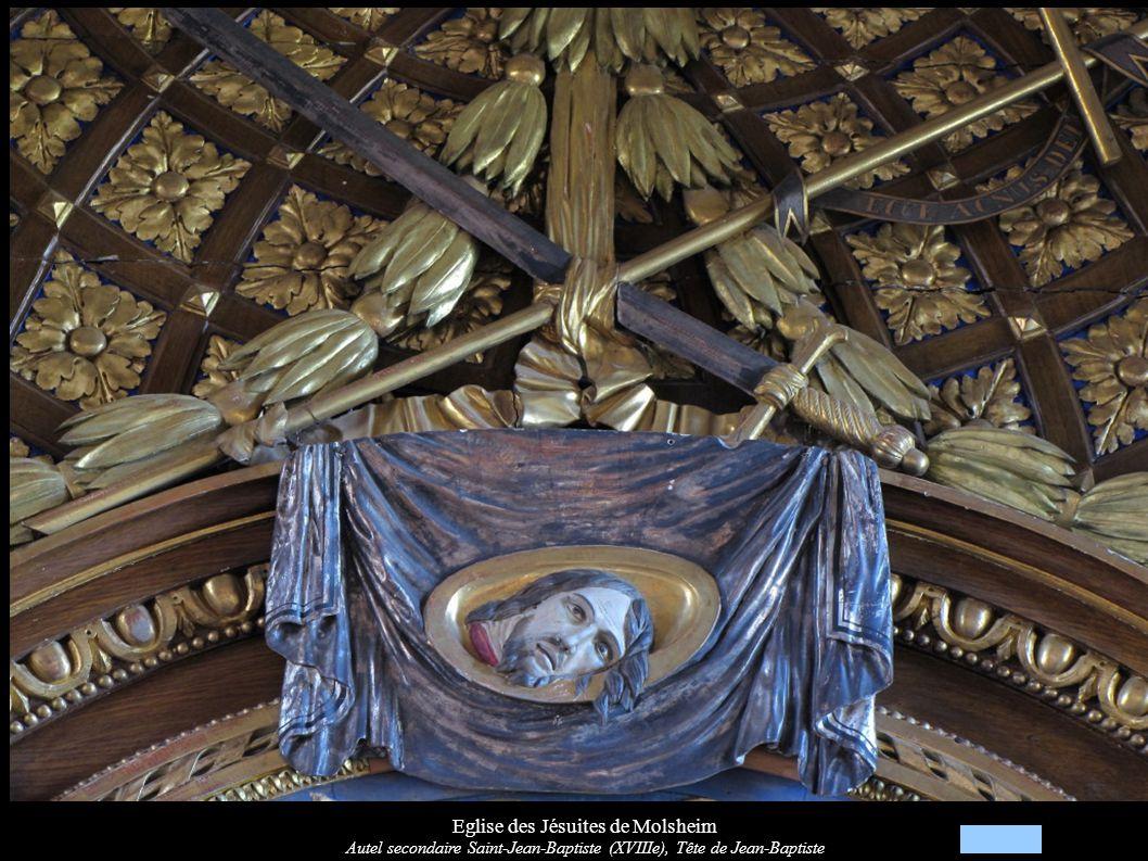 Eglise des Jésuites de Molsheim Autel secondaire Saint-Jean-Baptiste (XVIIIe), Tableau du devant d autel : Sainte Famille