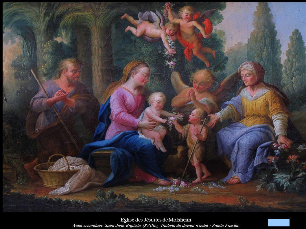 Eglise des Jésuites de Molsheim Autel secondaire « Vierge à l Enfant » (XVIIIe)