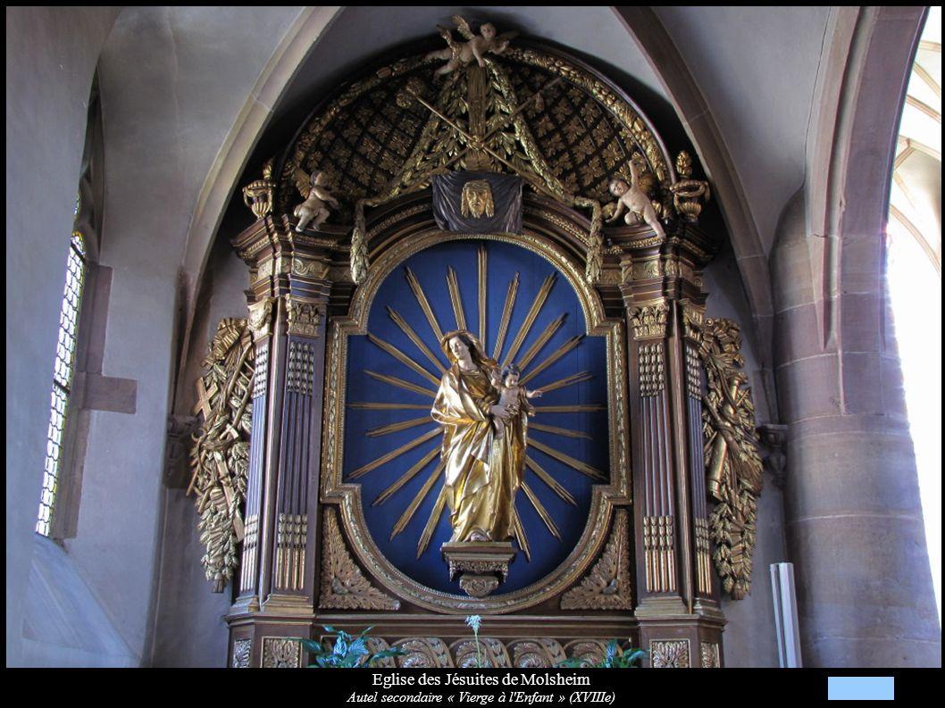 Eglise des Jésuites de Molsheim Statue « Vierge à l Enfant » (XVIIIe)